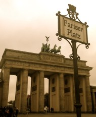 Brandenburg Gate in Pariser Platz: When the Berlin wall was built, the gate stood between the two walls in no man's land.