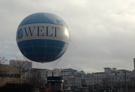 Die Welt (the world) is a popular newspaper in Germany.