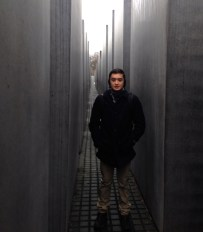 Matt inside the Holocaust Memorial