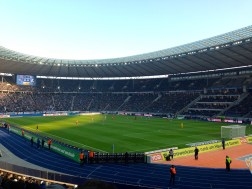 We went to the stadium to see Berlin's Hertha face Freiburg. Unfortunately, Hertha lost 0 - 2.