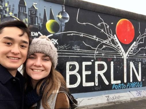 East Side Gallery on the Berlin Wall