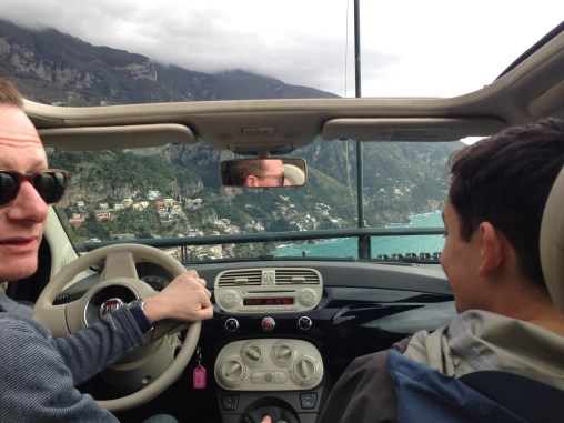 On Easter Sunday, we decided to take a drive along the windy Amalfi coast. Since none of the public transit was running on the holiday, we rented a Bambino with our New Zealander friend from the tour.