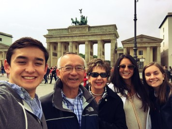 Lee/Johnson family and I in front of the Brandenburg Gate