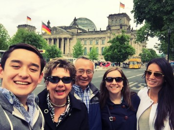in front of the Reichstag (Germany's federal government building)