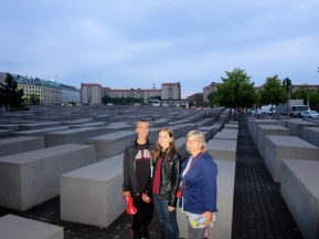 Spencer, Mom, and I at the Holocaust Memorial.