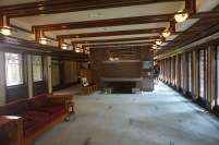 Living Room in the Robie House by Frank Lloyd Wright