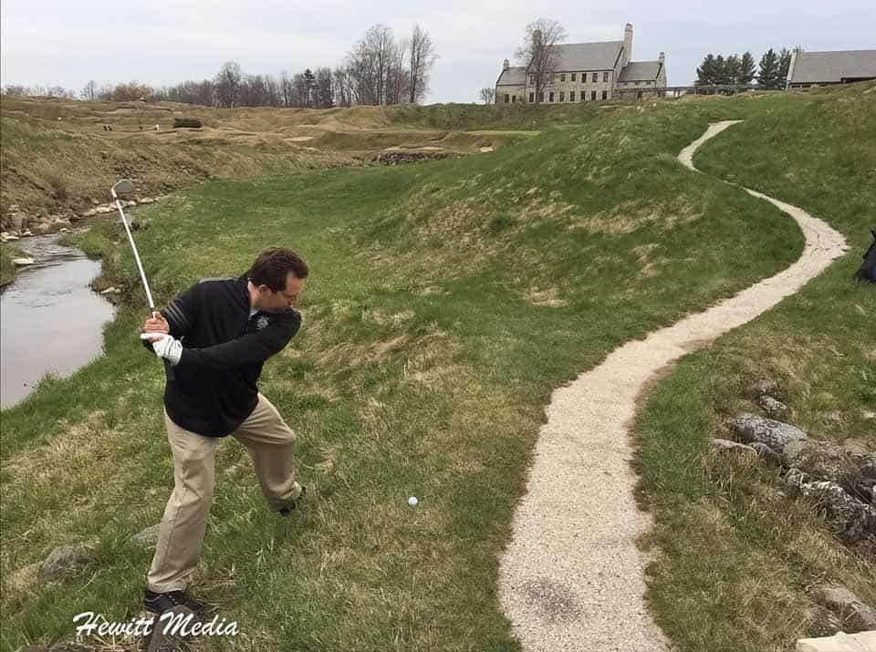 Golfing at Whistling Straits Golf Links