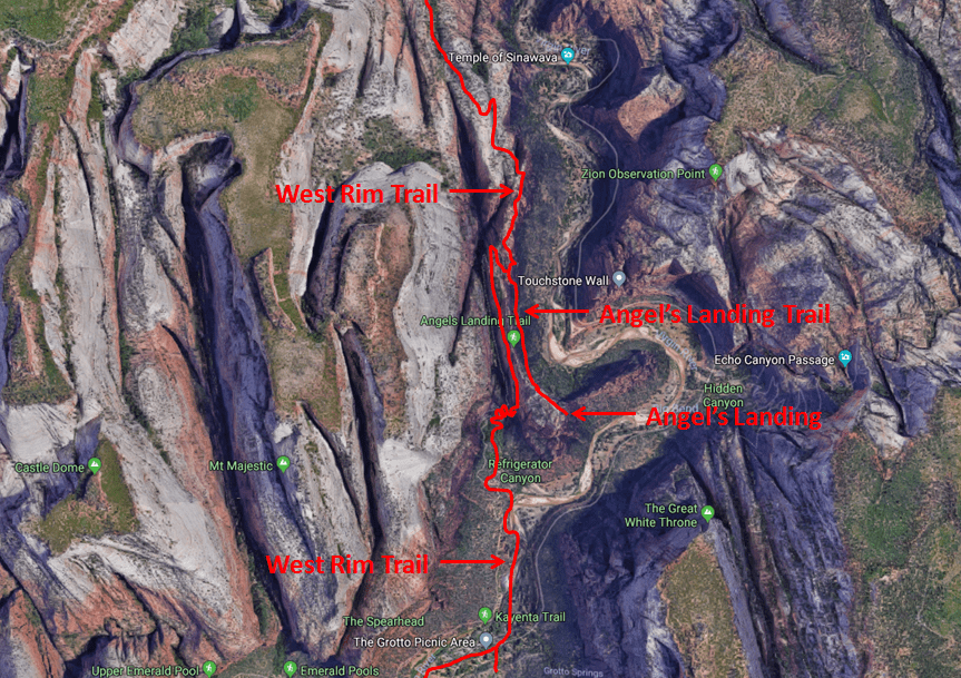 Angel's Landing Trail Map.png