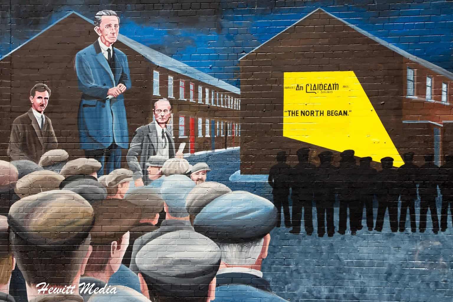 Falls Road Murals in Belfast