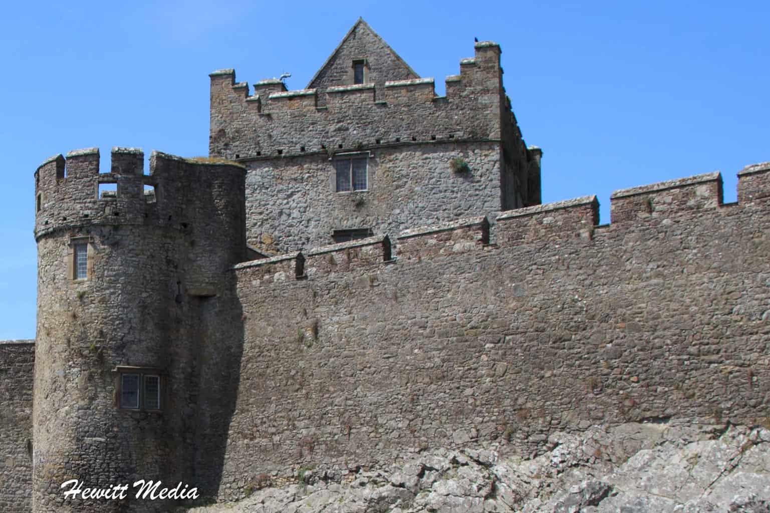 The castle's defenses