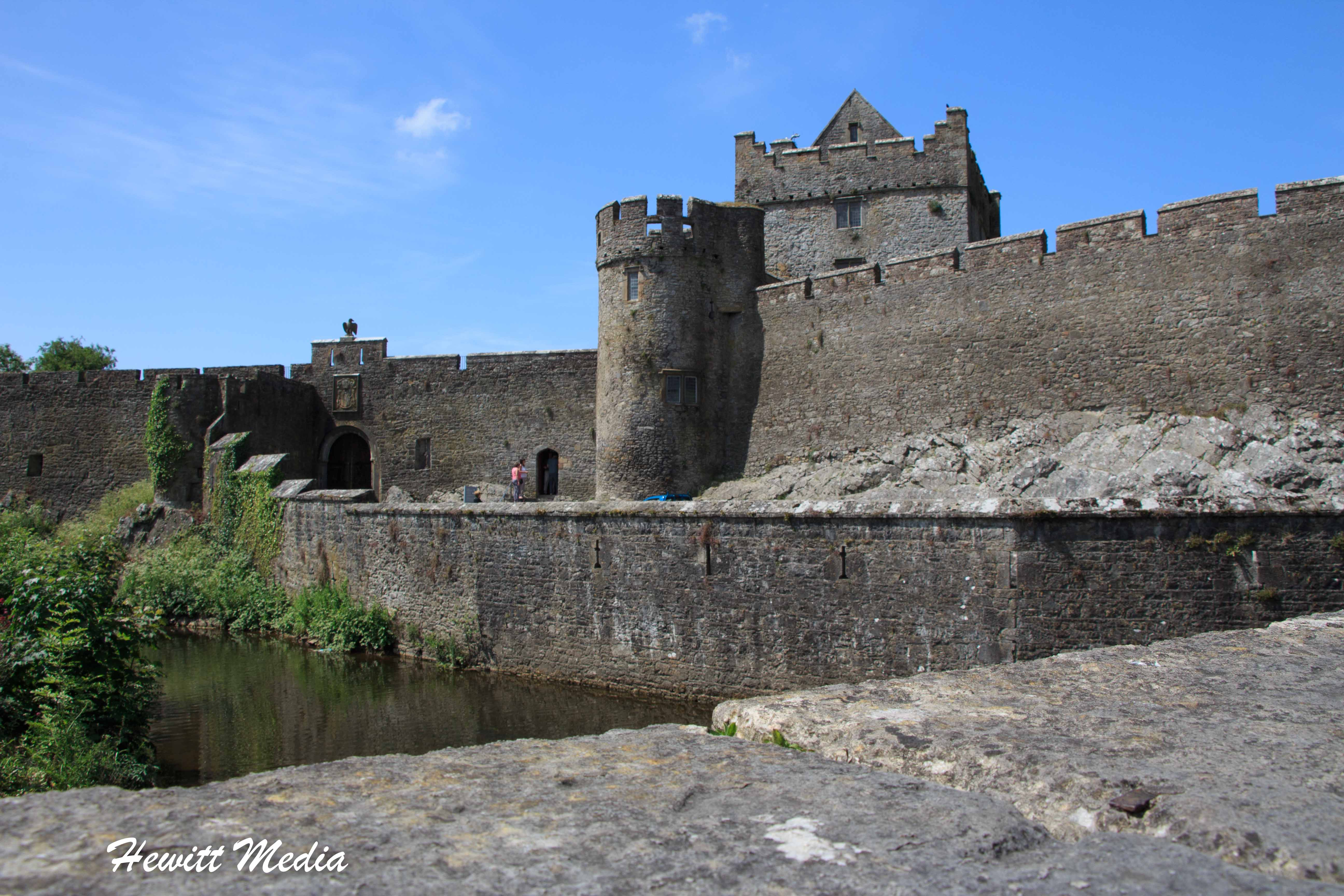 A view of the Cahir Castle from across the river