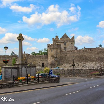 A view of the Cahir Castle from the town of Cahir