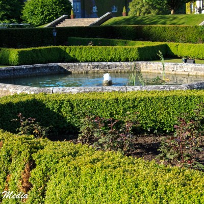 The gardens on the castle grounds are beautiful