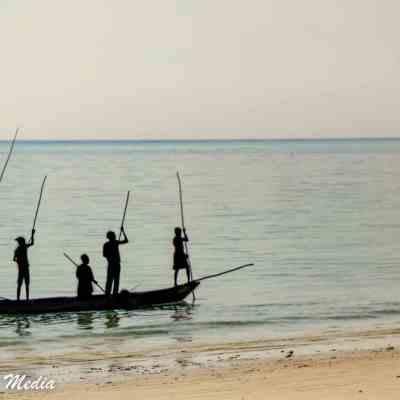 Fisherman near Paje Beach