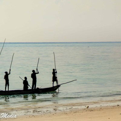 Fisherman near Paje Beach