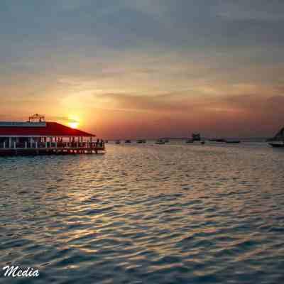 Gorgeous sunset near Stone Town
