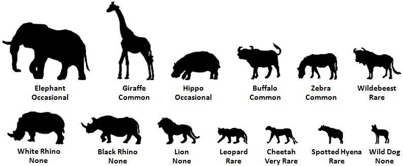 Arusha National Park Animals.png