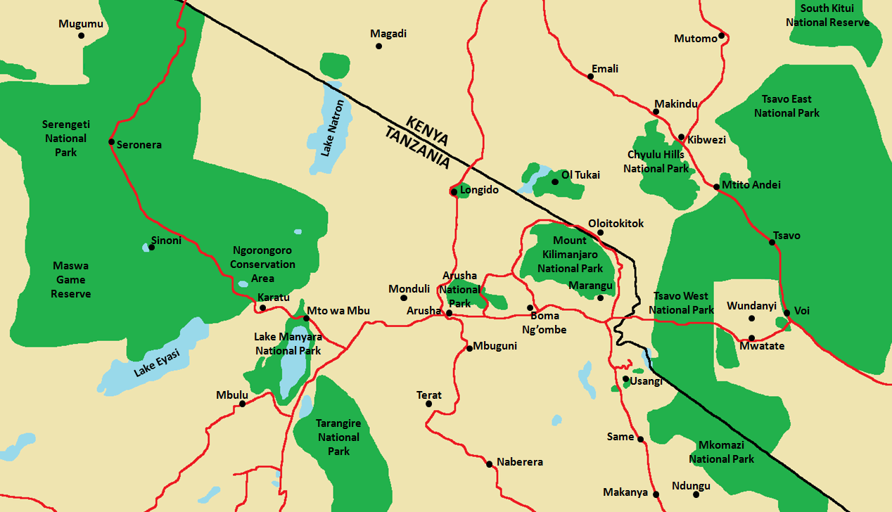 Arusha National Park Area Map.png