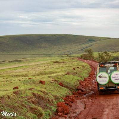 Driving thru the Ngorongoro Conservation Area
