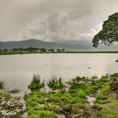 Lake Magadi inside the Ngorongoro Crater