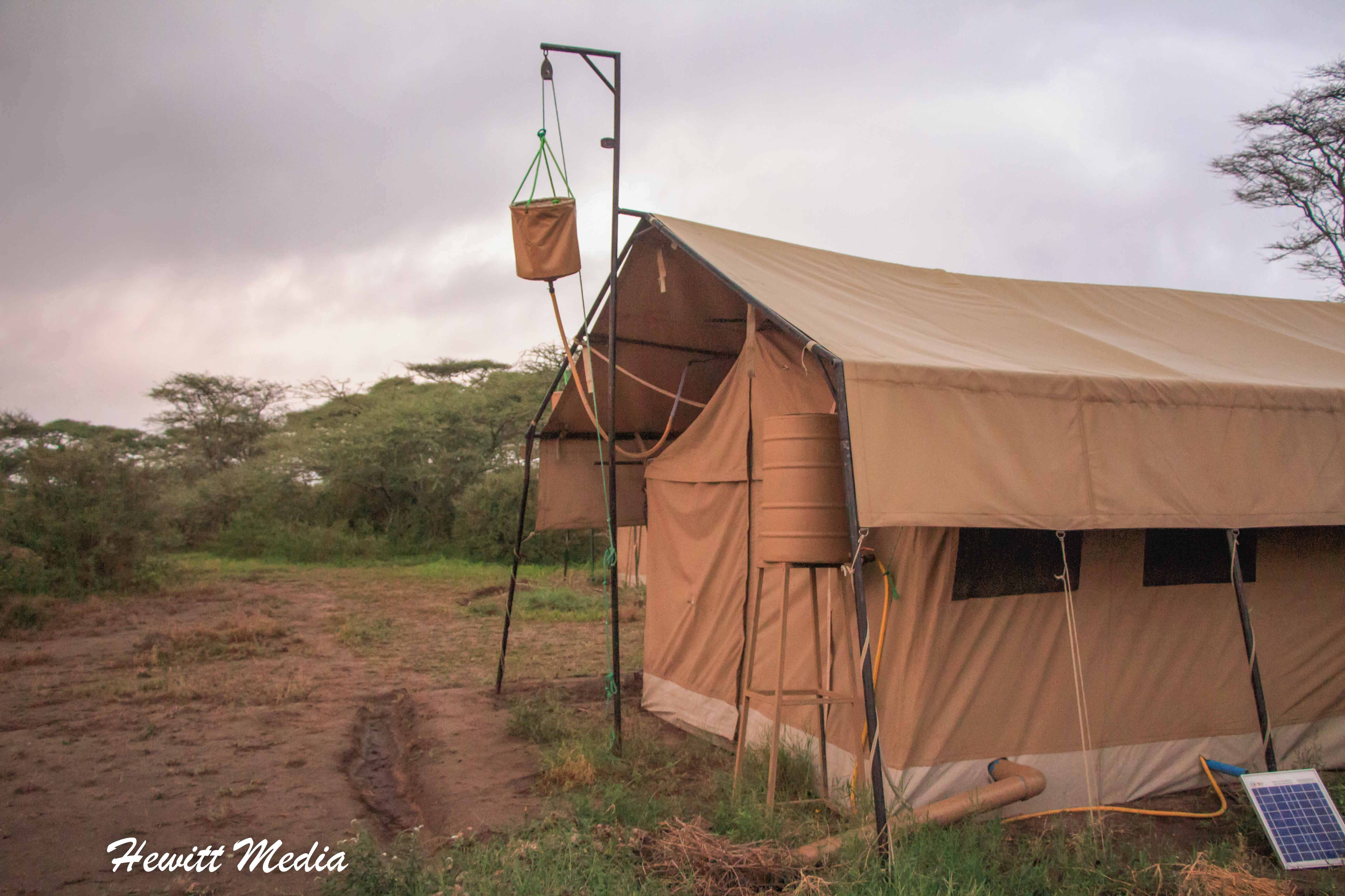 Our tent in the Serengeti National Park