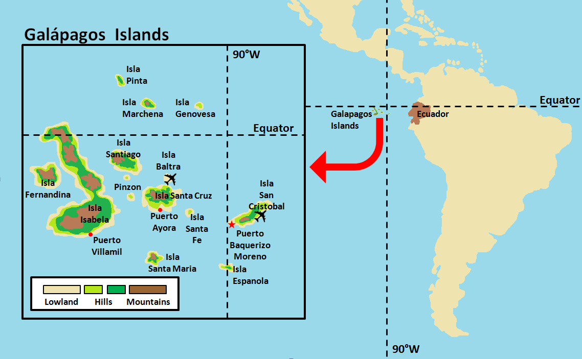 Galapagos Area Map