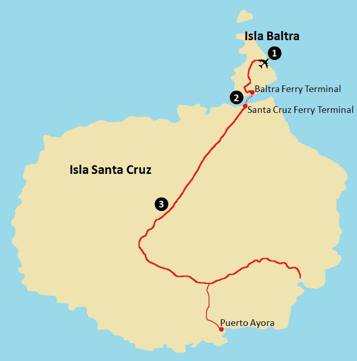 Getting to Galapagos - Baltra and Santa Cruz Map.png