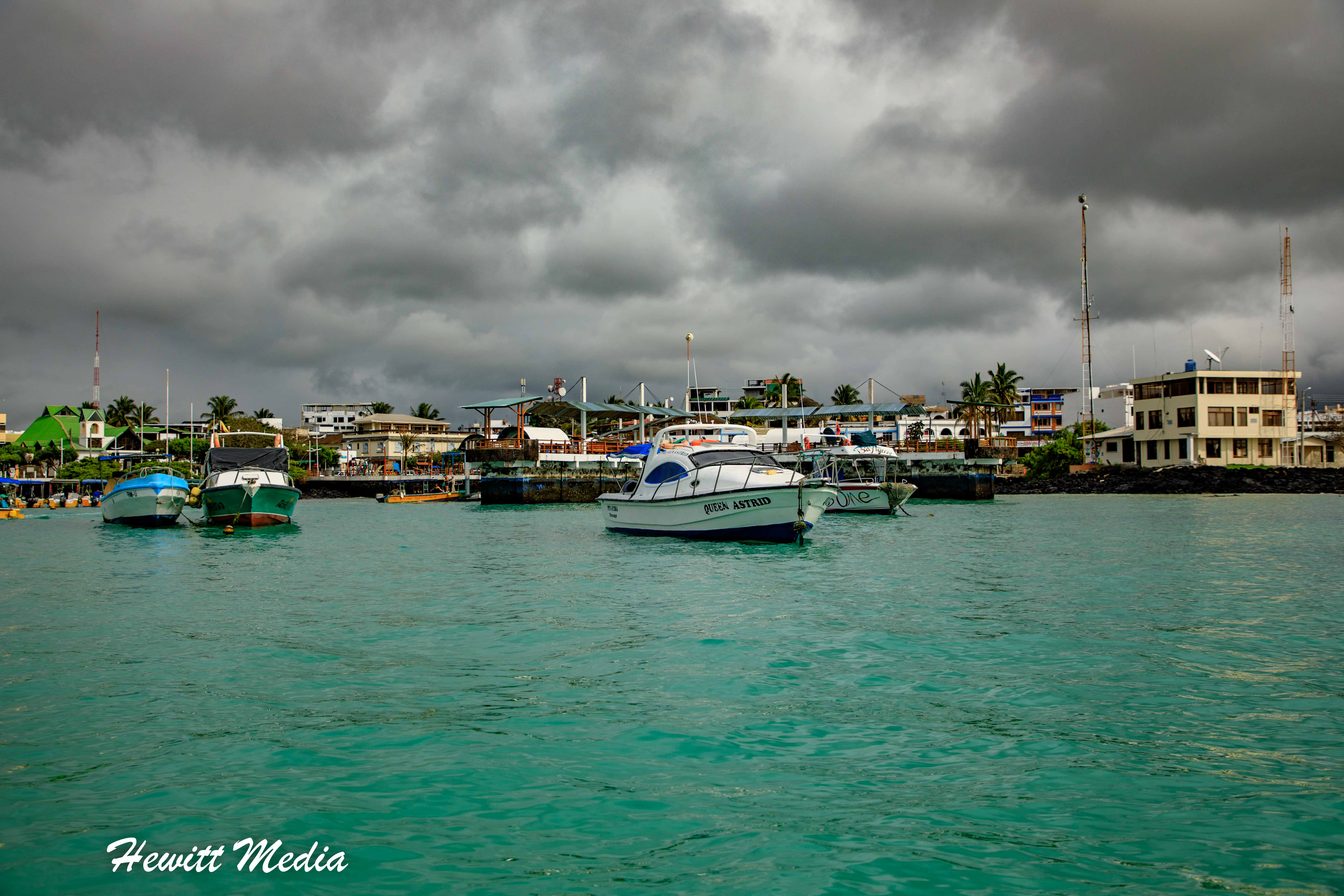 Clouds roll in as we head out for a snorkeling adventure.
