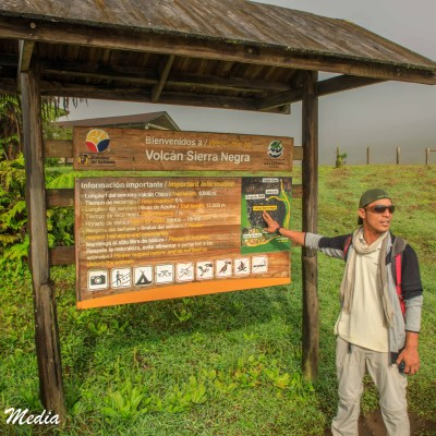 Our hike to see the Sierra Negra volcano on Isabela Island.