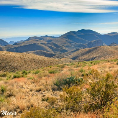 The Chisos Mountains inside Big Bend National Park