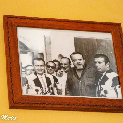Picture of Orson Welles hanging in restaurant in Ronda, Spain