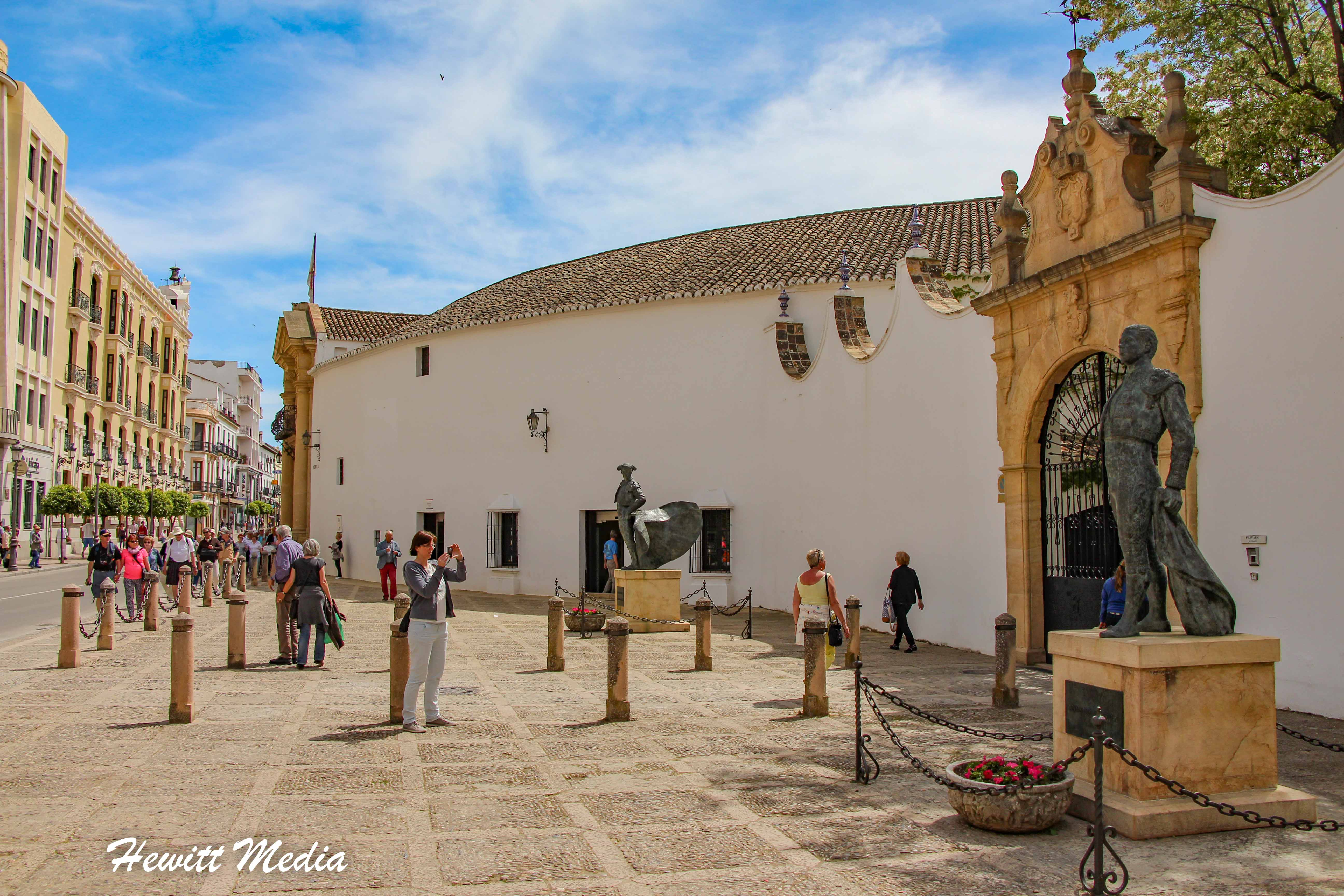 Statue outside the Plaza de Toros in Ronda, Spain