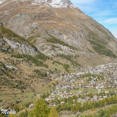 View of Zermatt from Above