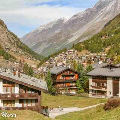 Houses on outskirts of Zermatt