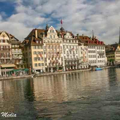 Lucerne along the Reuss River