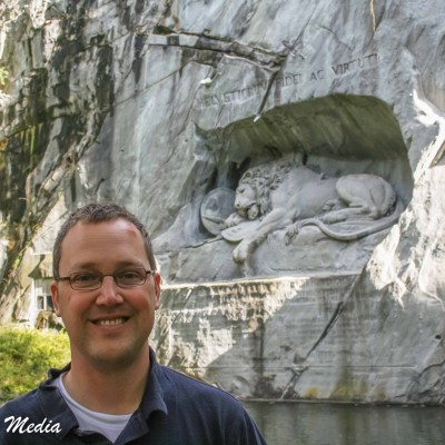 Me in front of the Lion Monument