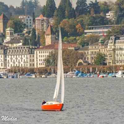 Sail boat on Lake Lucerne