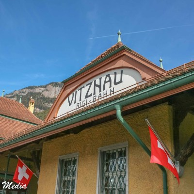 The Vitznau Train Station