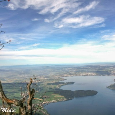 View of Lake Lucerne from up in the Alps