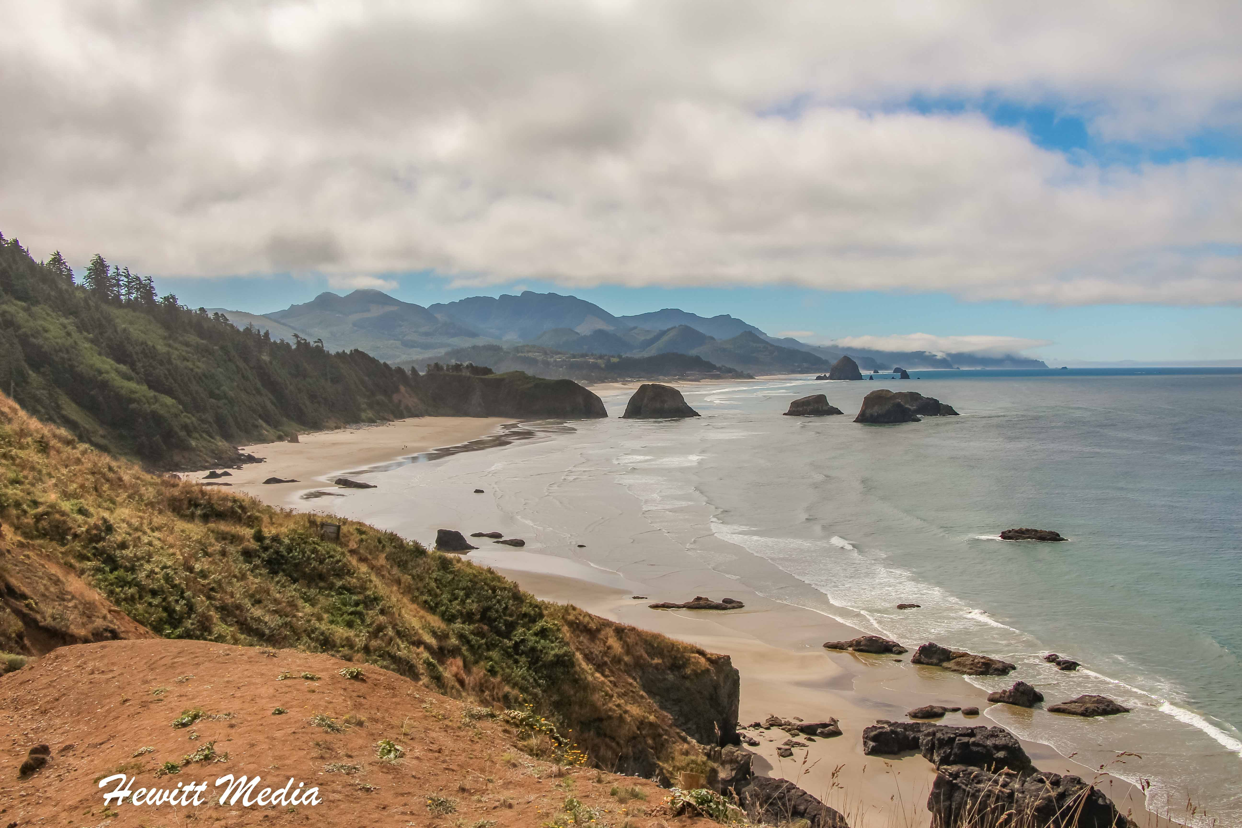 The beautiful coast in Ecola State Park