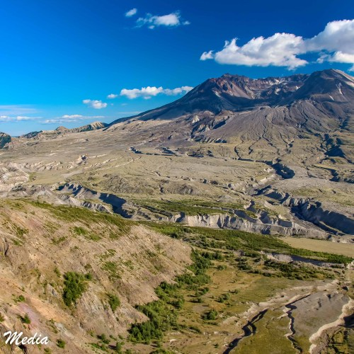The crater of Mount St. Helens