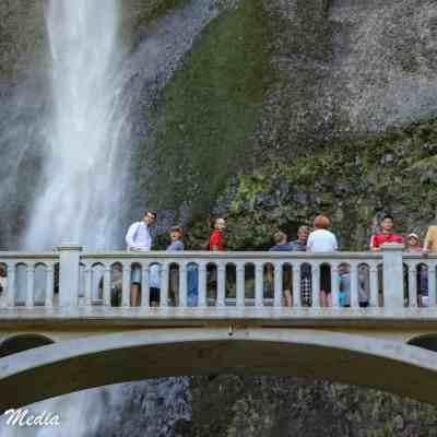 Observation bridge at the Multnomah Falls