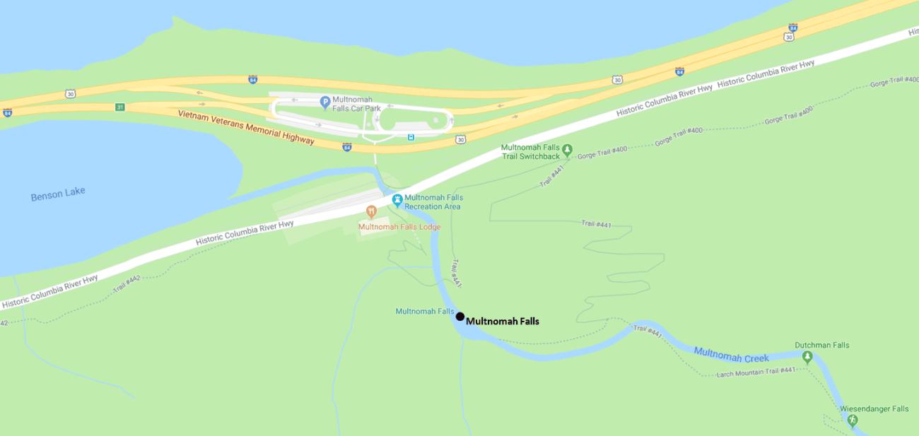 Multnomah Falls Detail Map