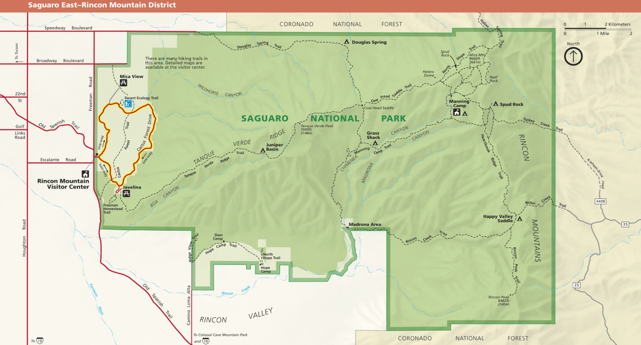 Saguaro National Park - East Map