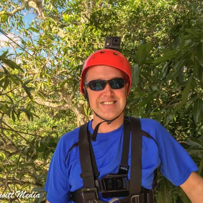Getting ready to zip line in Punta Cana