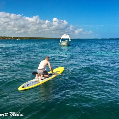 Paddle Boarding in the Ocean in Punta Cana