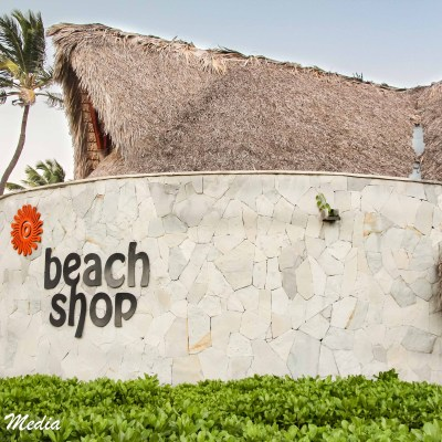 The beach shop at our resort in Punta Cana