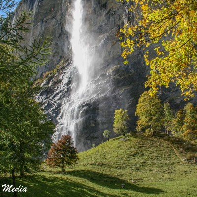 Waterfall in Lauterbrunnen Valley
