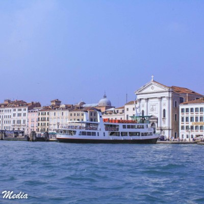 On a water taxi to Venice