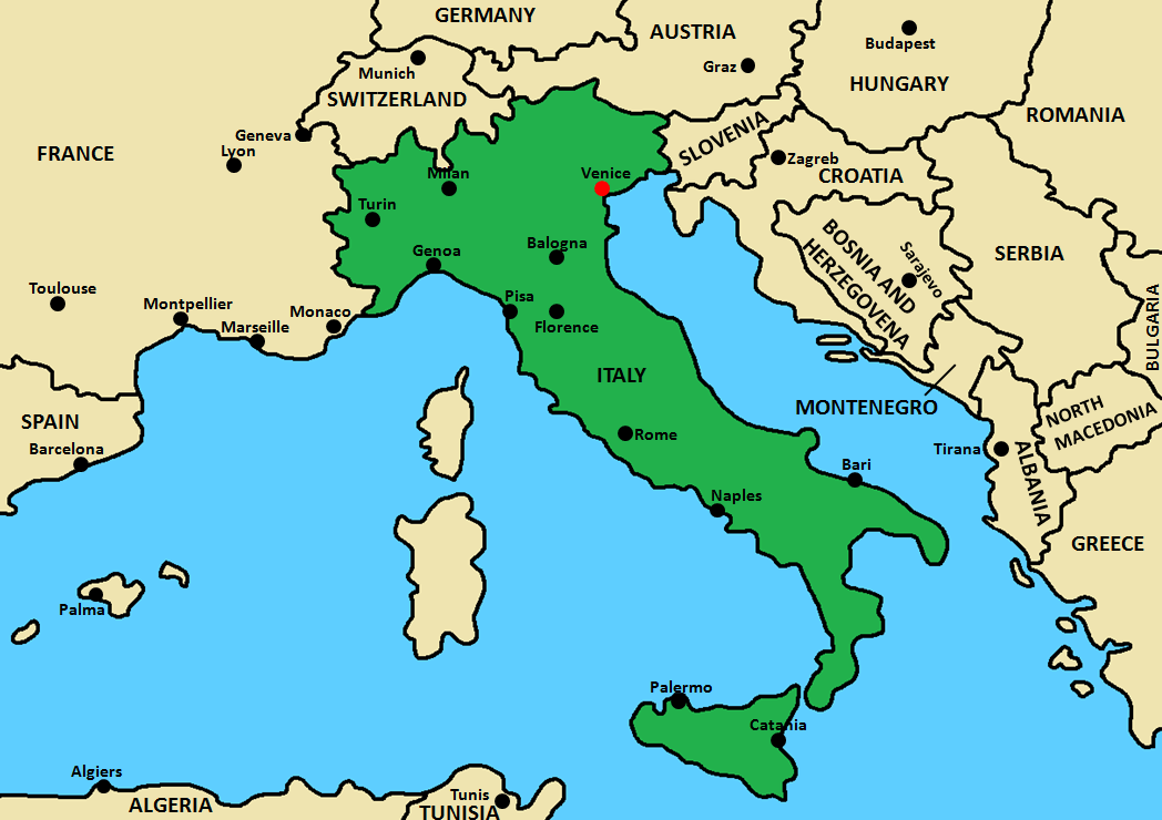 Venice Italy Area Map.png